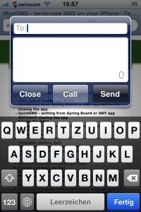 QuickSMS in iRealSMS 2.0.8