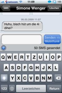 biteSMS Darstellung - SMS Antwort